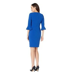 Donna Morgan Bell Sleeve Crepe Sheath Dress